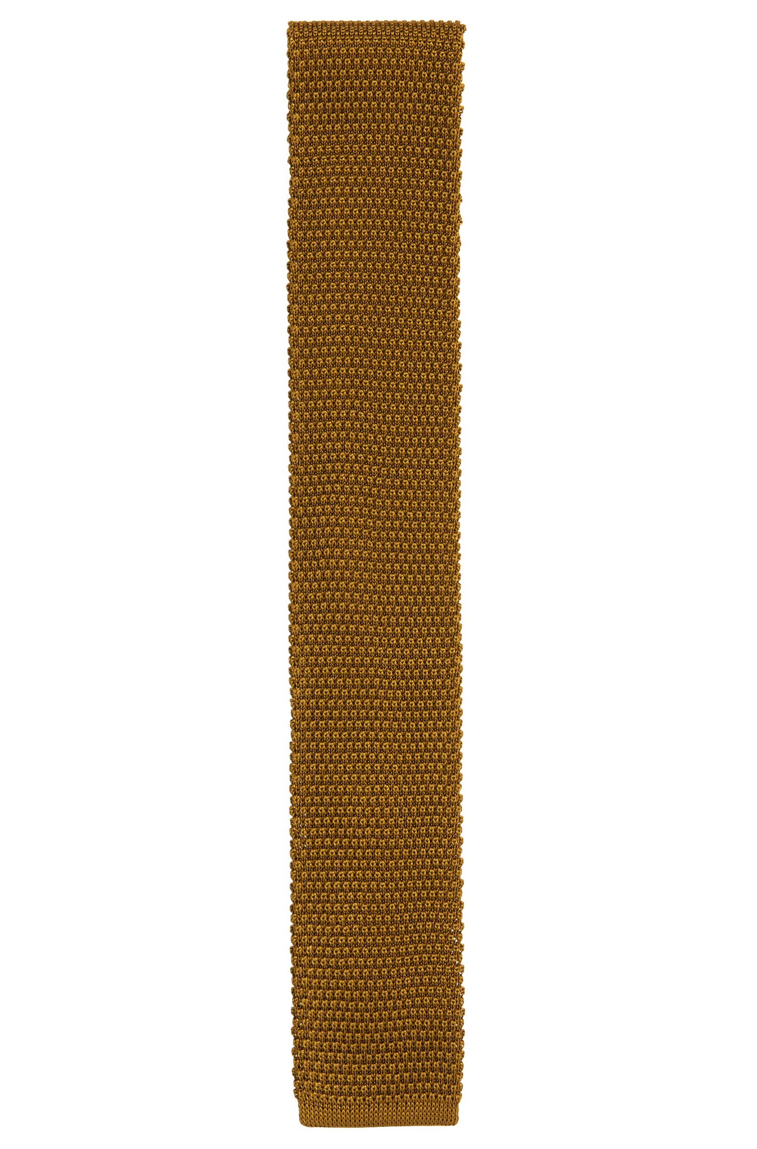 Cravate Tailored en pure soie structurée: «T-Tie 6cm knitted»
