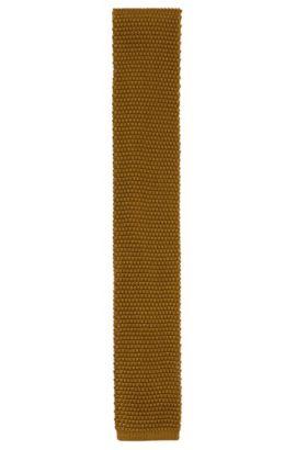 Gestructureerde stropdas van zuivere zijde uit de Tailored-collectie: 'T-Tie 6 cm knitted', Groen