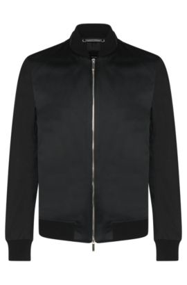 Water-repellent Tailored jacket in bomber jacket style: 'T-Camby', Black