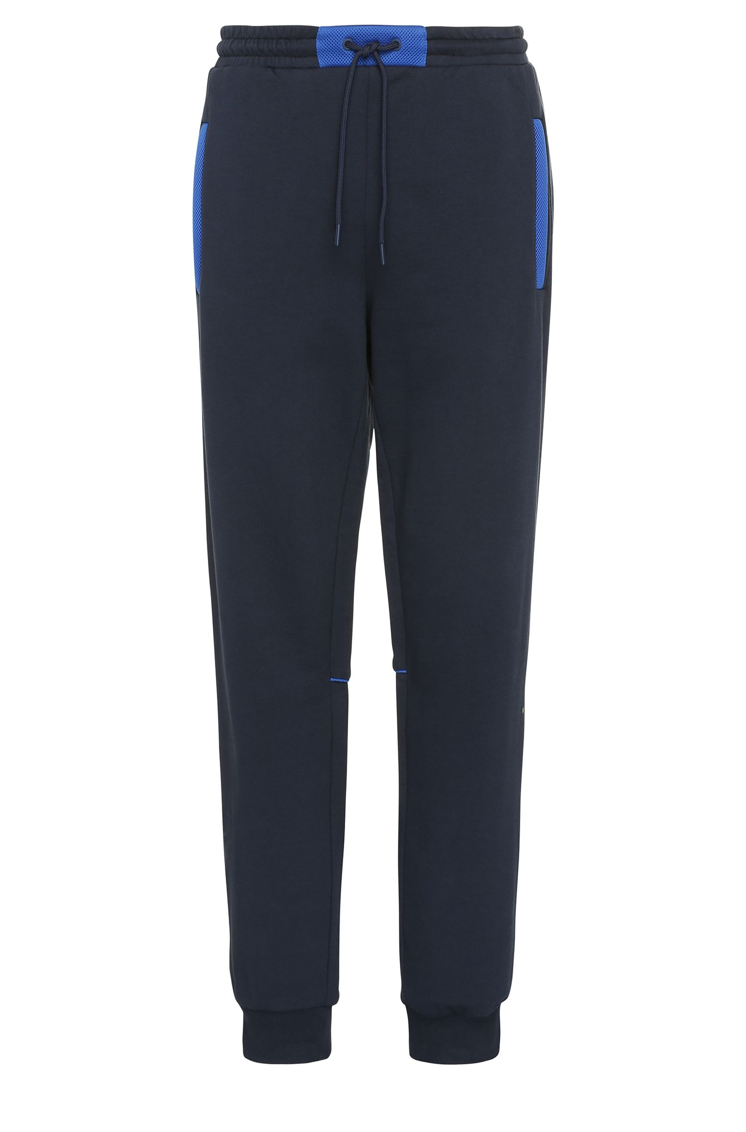 Relaxed-fit tracksuit bottoms in cotton with contrasting trim: 'Harid'