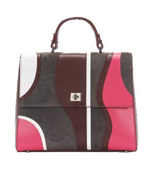 BOSS Bespoke Handtasche mit grafischem Muster aus Leder