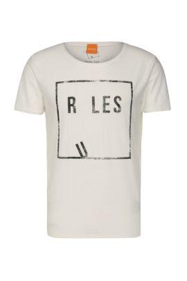 Comfort-Fit Print-Shirt aus Baumwolljersey: ´Trafalgar`, Natur