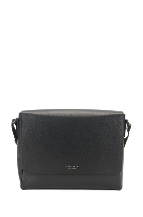 c5cd7805a7 BOSS - Signature Collection messenger bag in grained palmellato leather