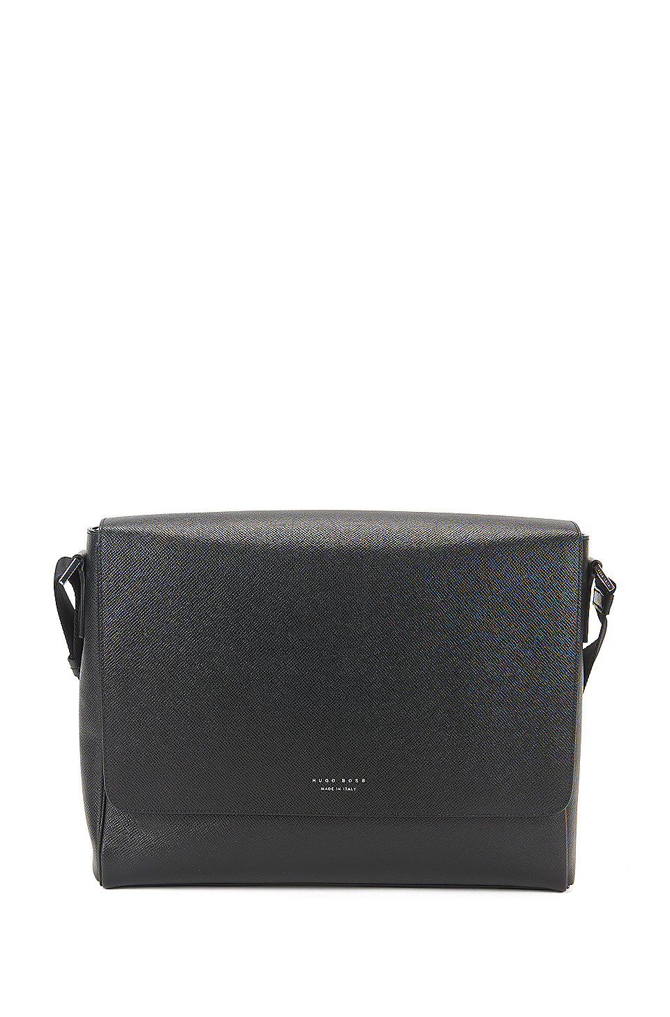 cac95d6f419 BOSS - Signature Collection messenger bag in grained palmellato leather