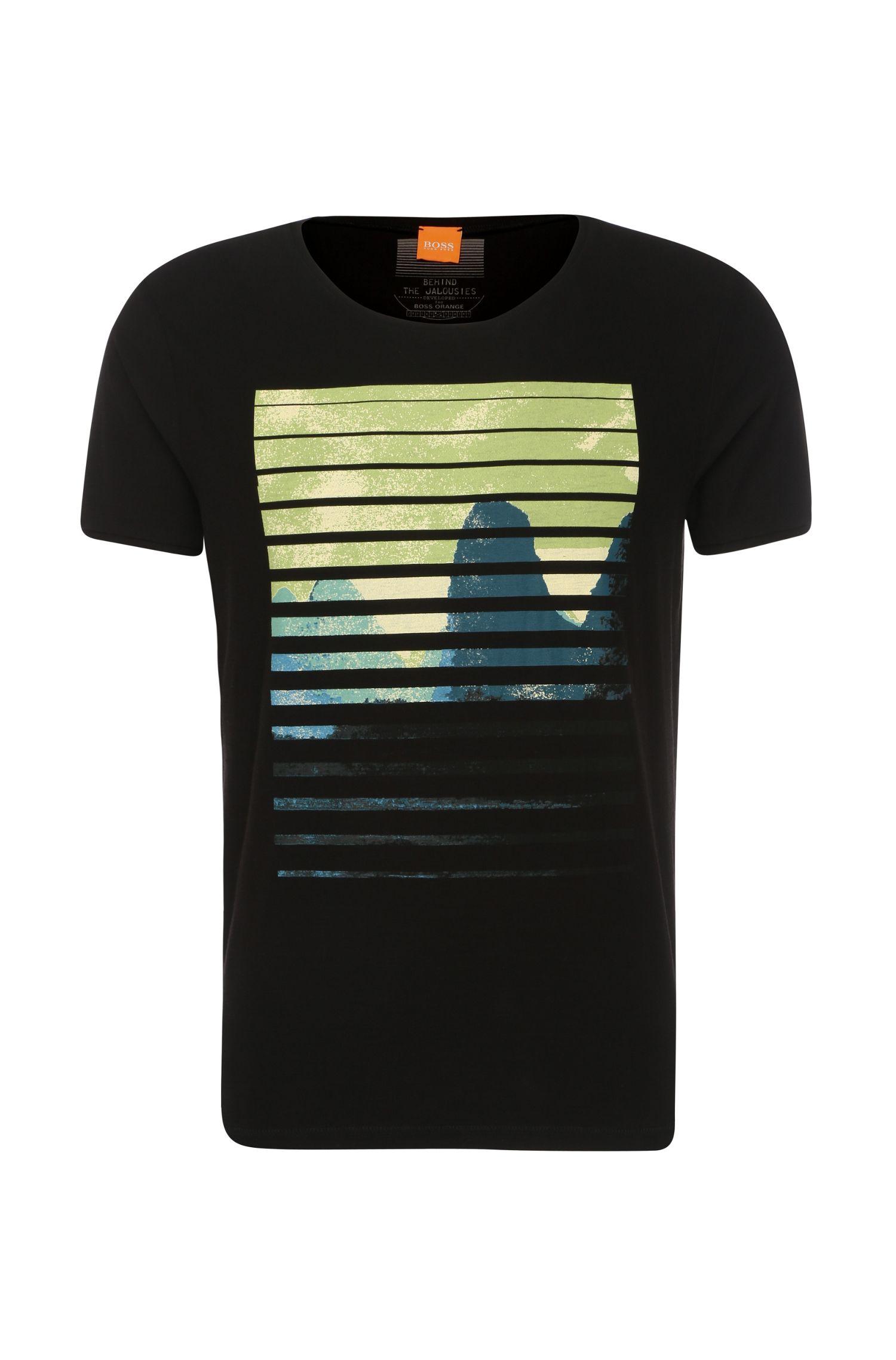 Camiseta en algodón con estampado delantero: 'Talvin'