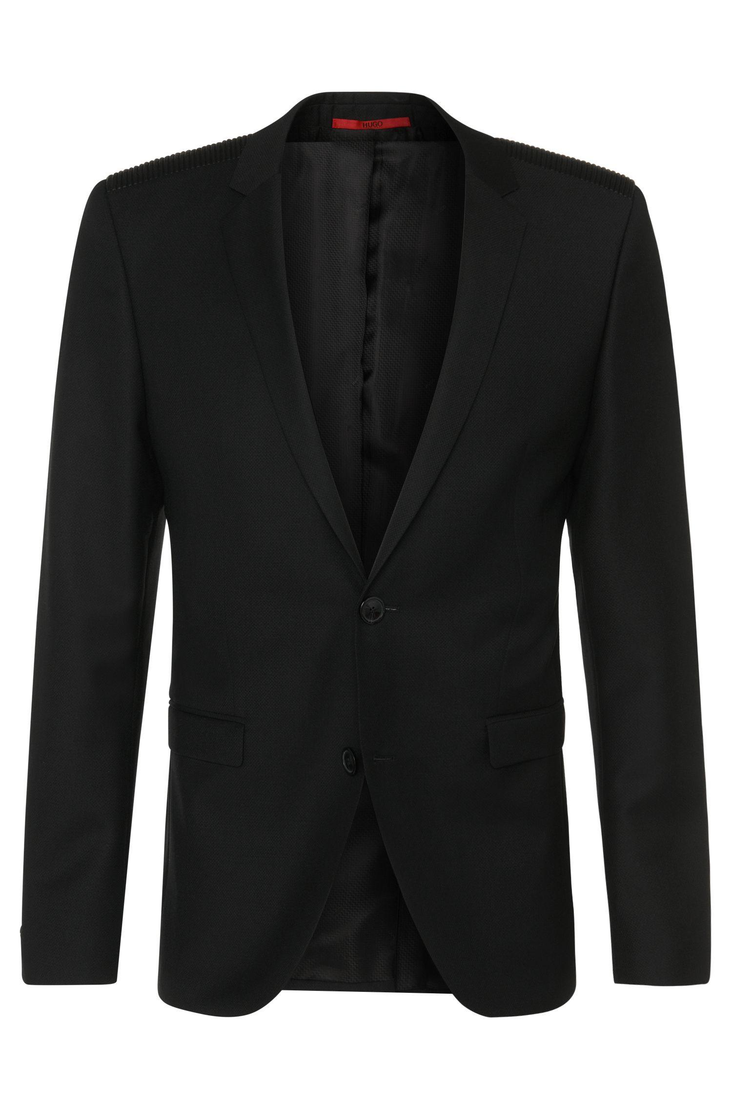 Giacca extra slim fit in lana vergine con dettaglio sulle spalle: 'Andson'