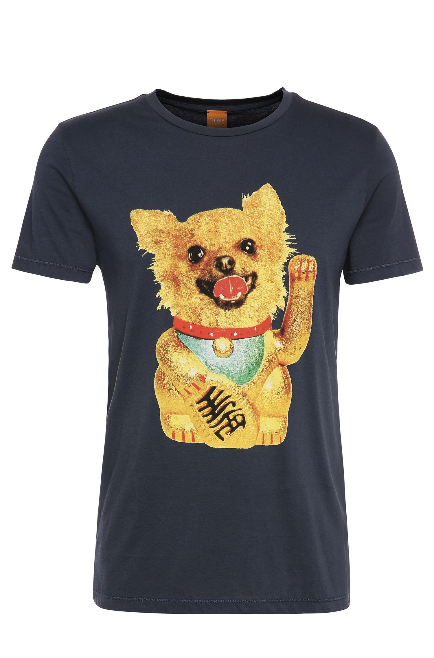 Maglietta regular fit in cotone con motivo a forma di cane: 'Talan 1'