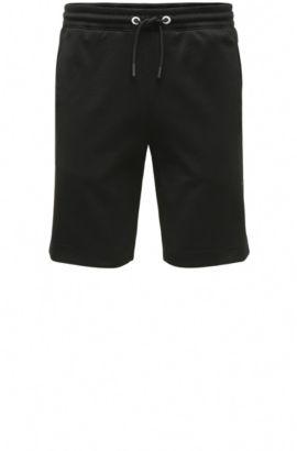 Regular-Fit Sweat-Shorts aus Baumwoll-Mix: ´Headlo`, Schwarz