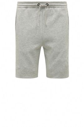 Short molletonné Regular Fit en coton mélangé : « Headlo », Gris chiné
