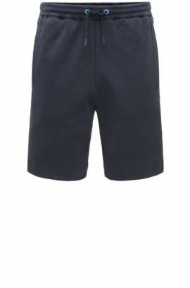Regular-fit sweat shorts in cotton blend: 'Headlo', Dark Blue
