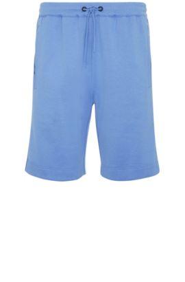 Regular-fit sweatshort van een katoenmix: 'Headlo', Blauw