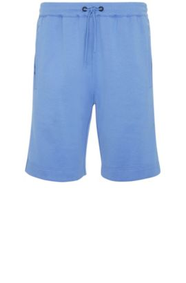 Pantaloncini corti in felpa regular fit in misto cotone: 'Headlo', Blu