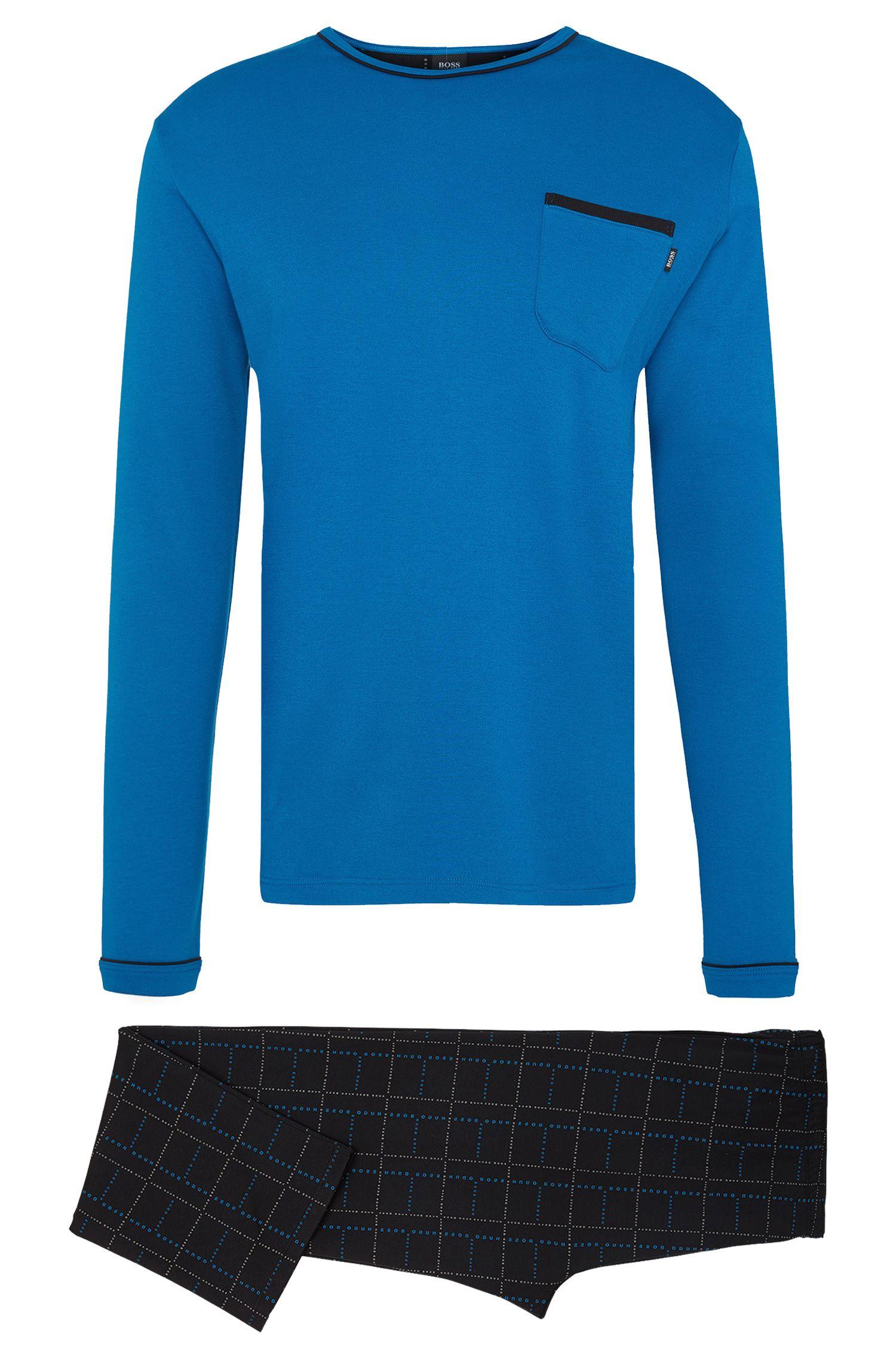 Pyjama bicolore en coton: «Set Long»