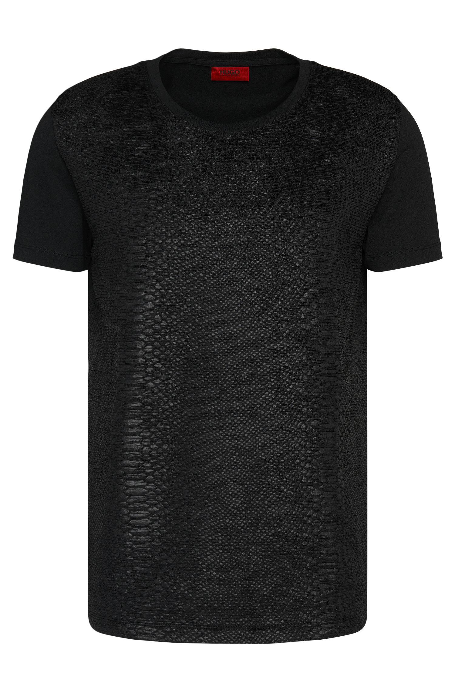 Loose-Fit T-Shirt aus Baumwolle mit strukturierter Front: 'Desert'