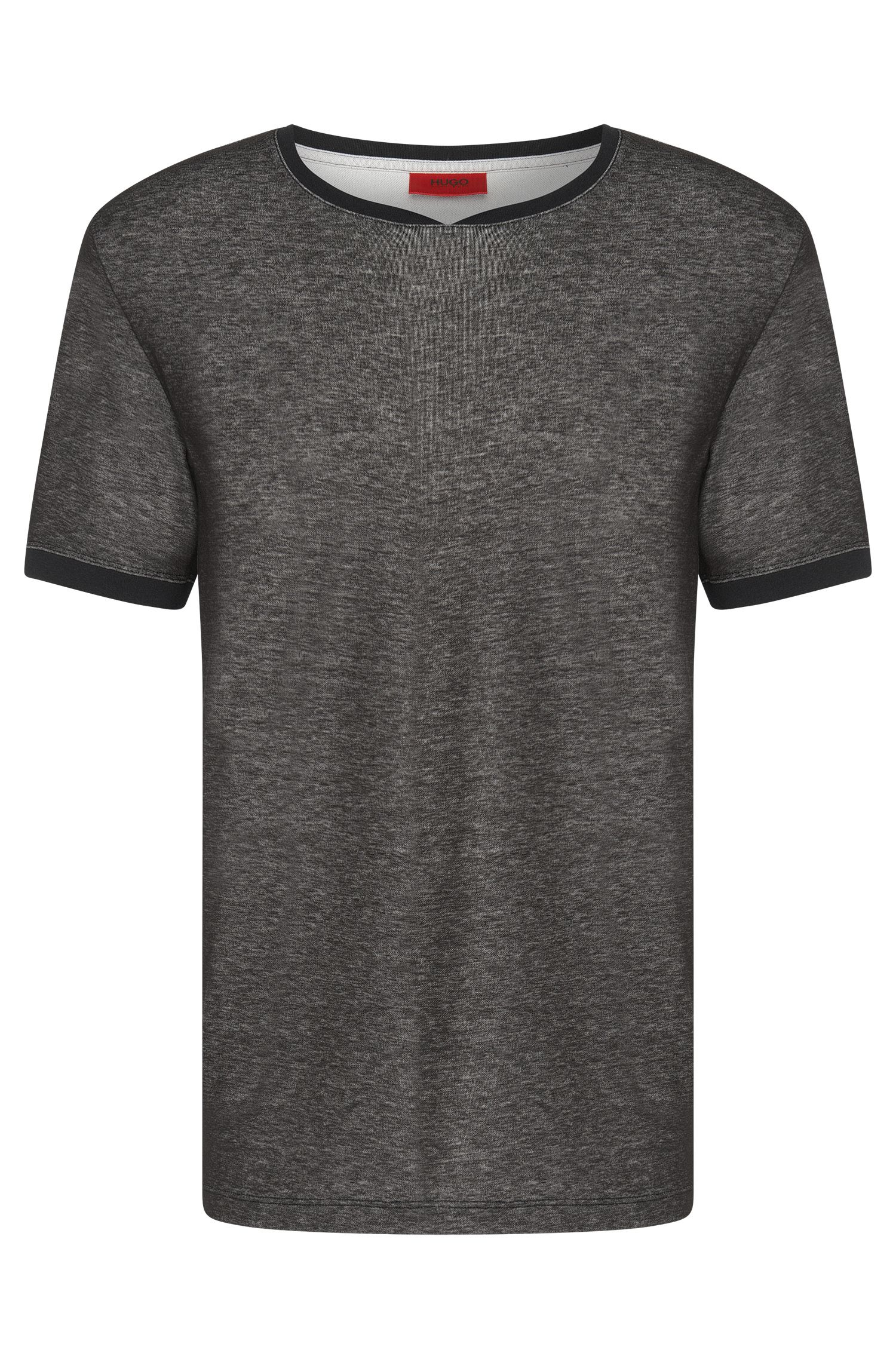 Mottled loose-fit t-shirt in cotton blend: 'Dircus'