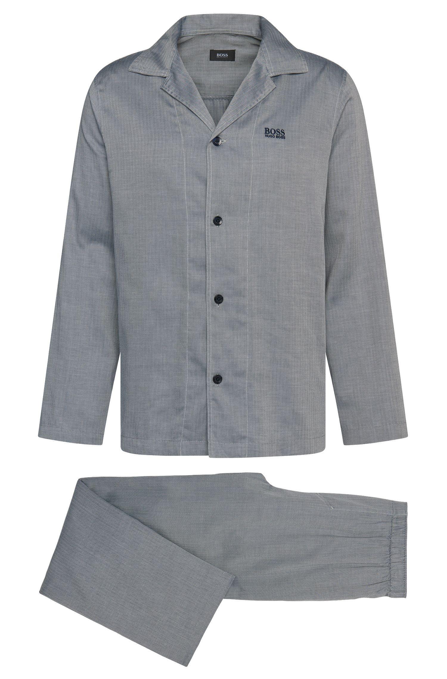 Regular-fit pyjama van katoen met dessin: 'Pyjama2'