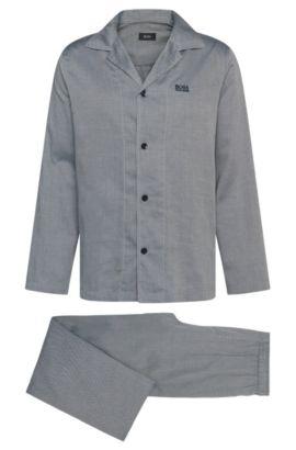 Pigiama regular fit a disegni in cotone: 'Pyjama2', Grigio