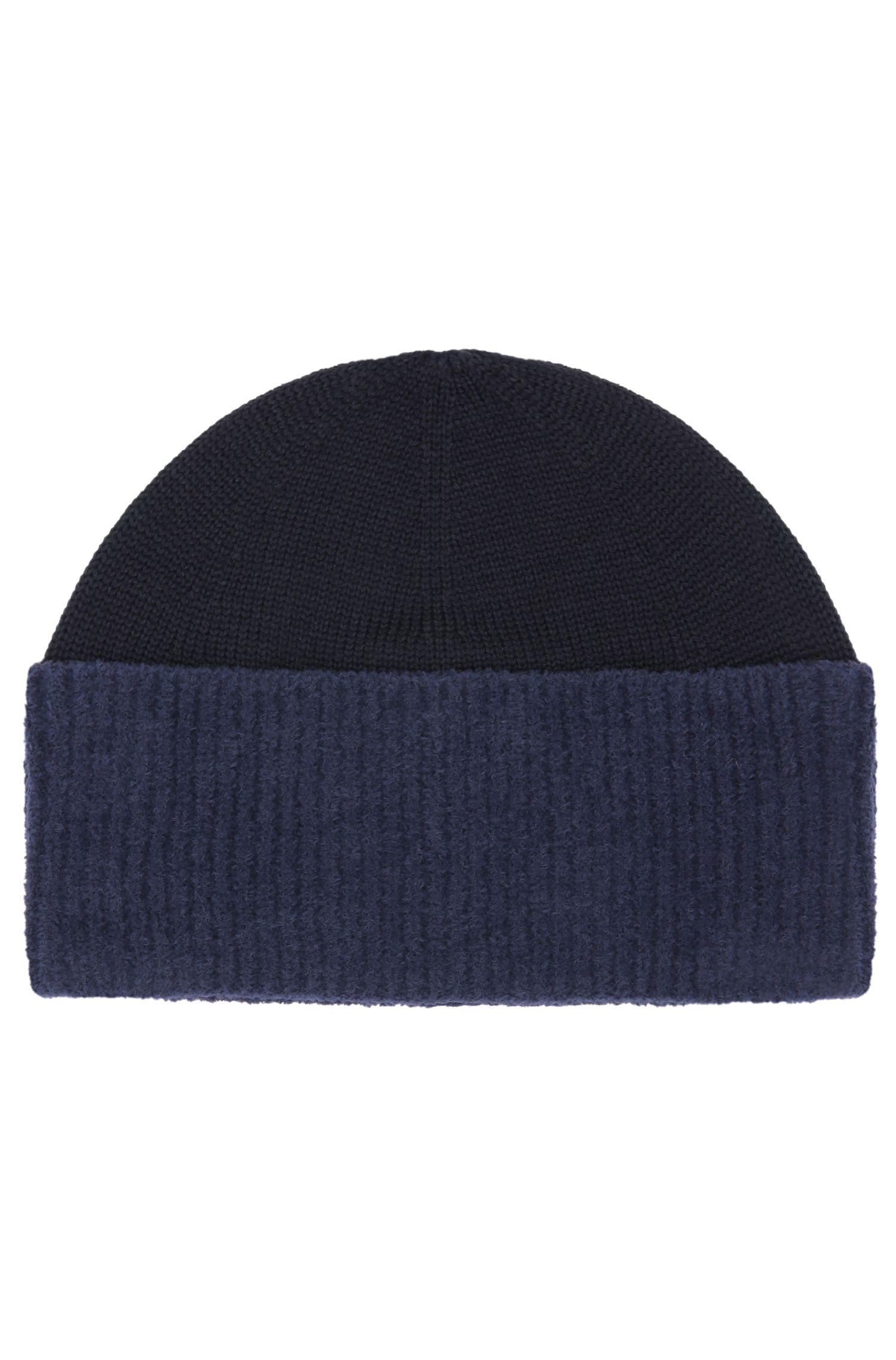 Bonnet en maille de laine mélangée à teneur en coton: «Fidoo»