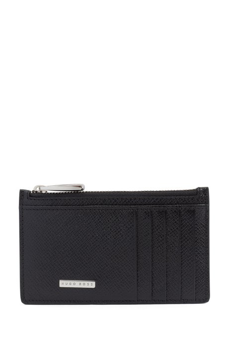 cheaper 86647 f90e5 BOSS - Signature Collection card case in palmellato leather