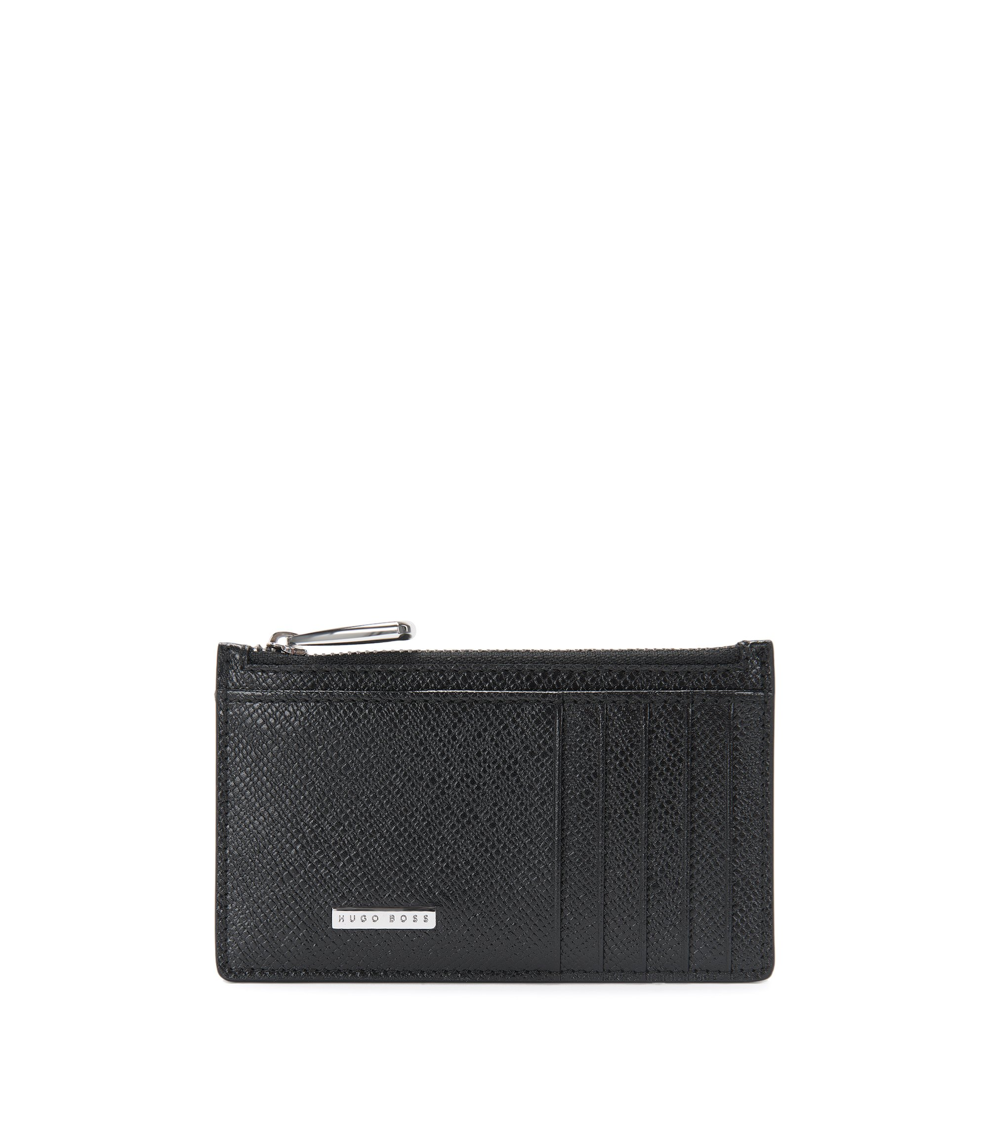 Signature Collection card case in palmellato leather, Black