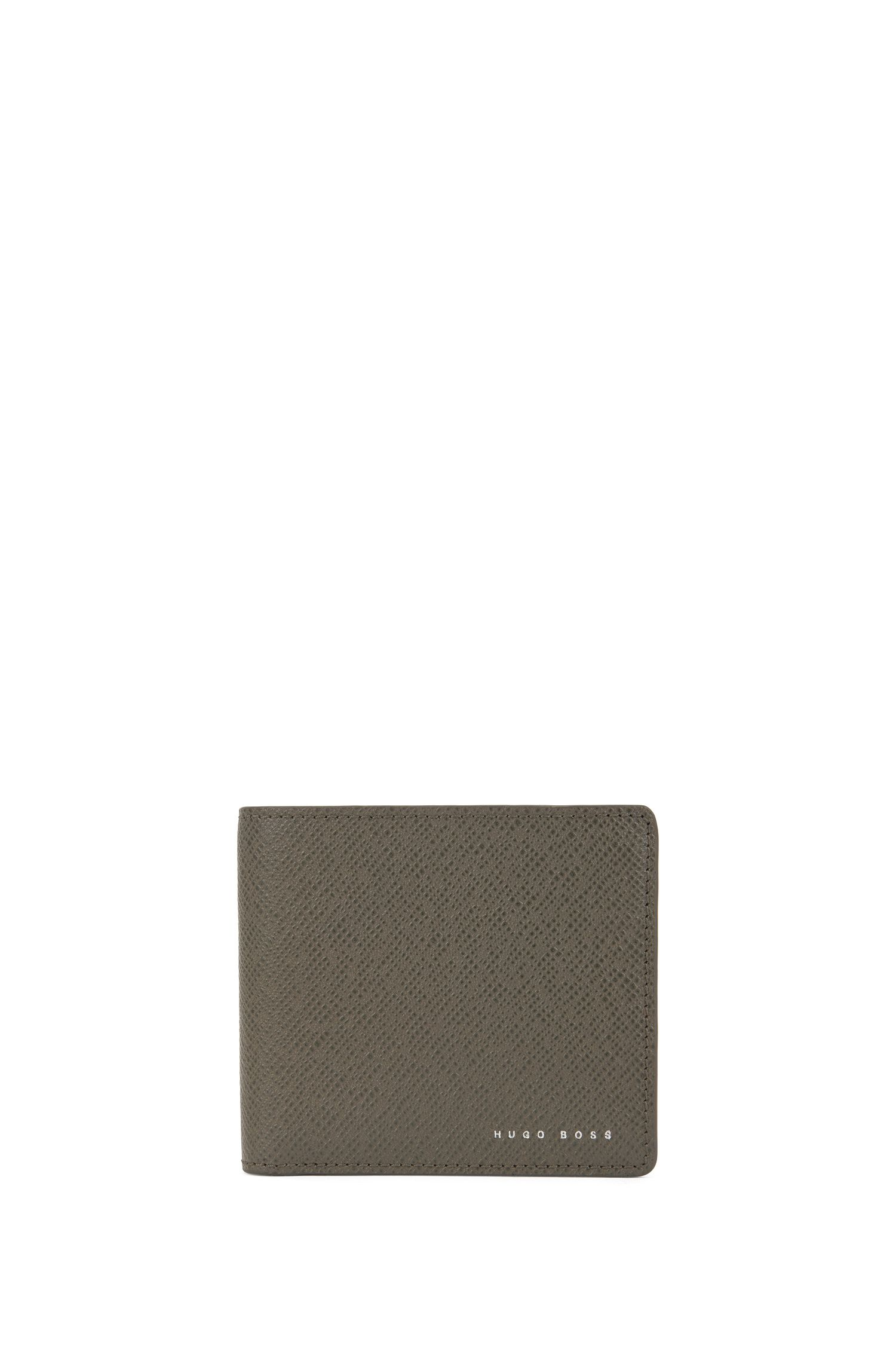 Signature Collection leather folding wallet with 8 card slots