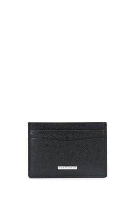 Signature Collection leather card case, Black