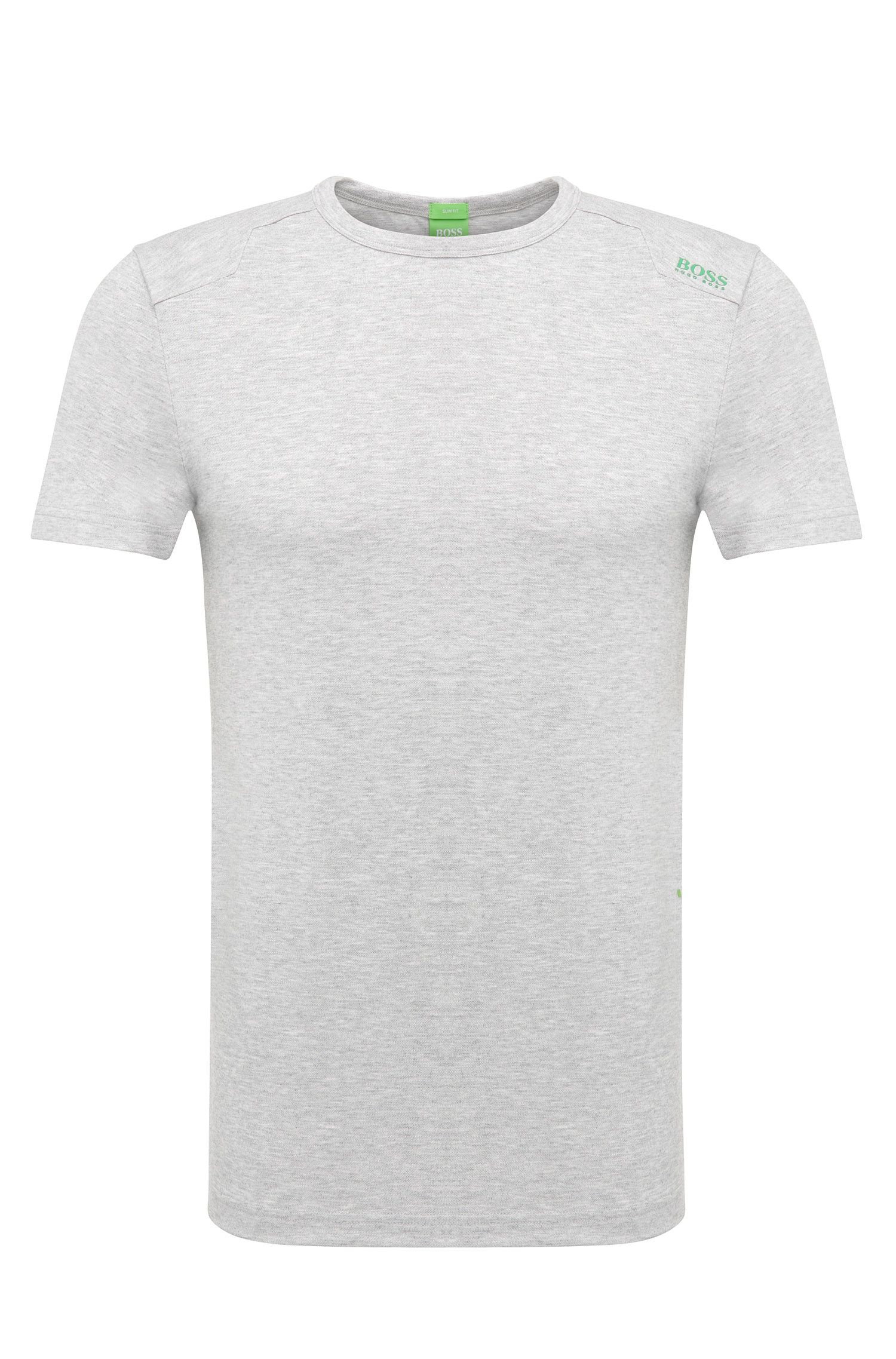 Slim-fit print T-shirt in stretch cotton blend: 'Teenox'