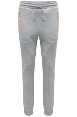 Casual joggers in cotton blend: 'Heacho', Light Grey