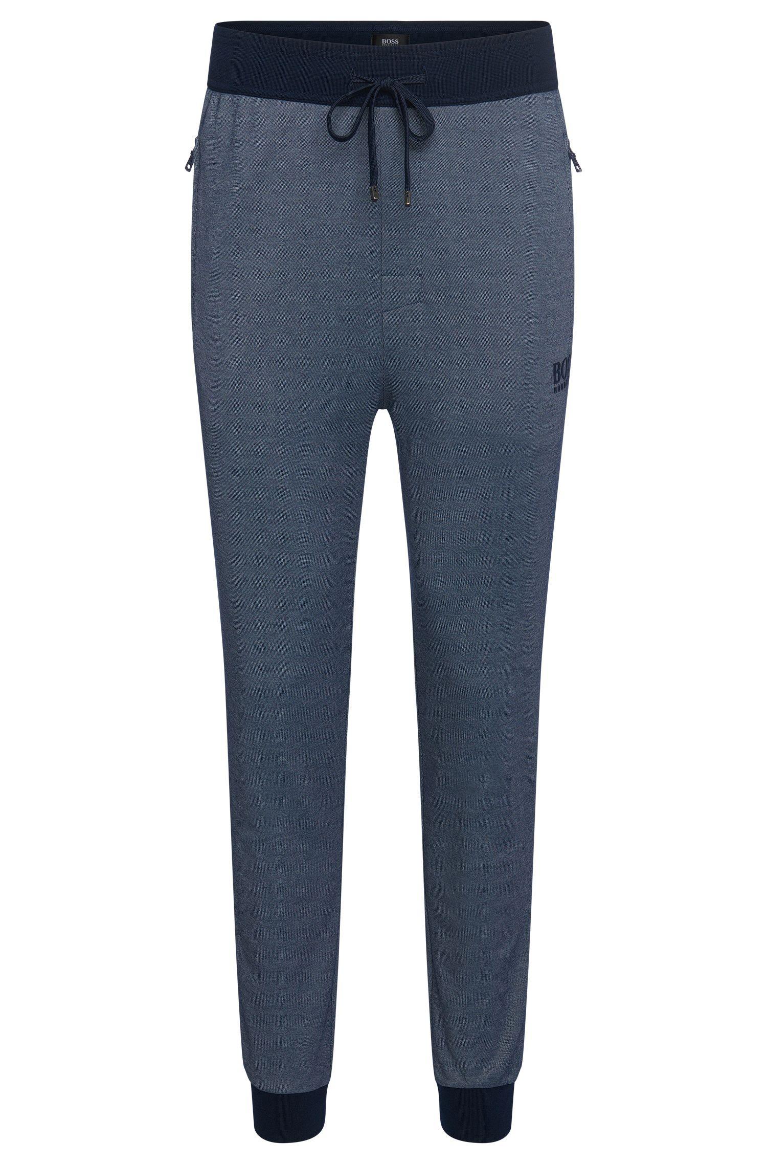Sweatbroek van een katoenmix met contrasterende uiteinden: 'Long Pant Cuffs'