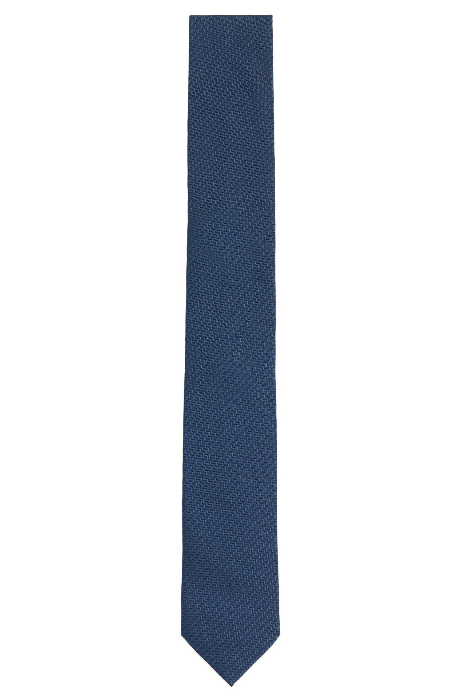 Finely striped silk tie: 'Tie 6 cm'