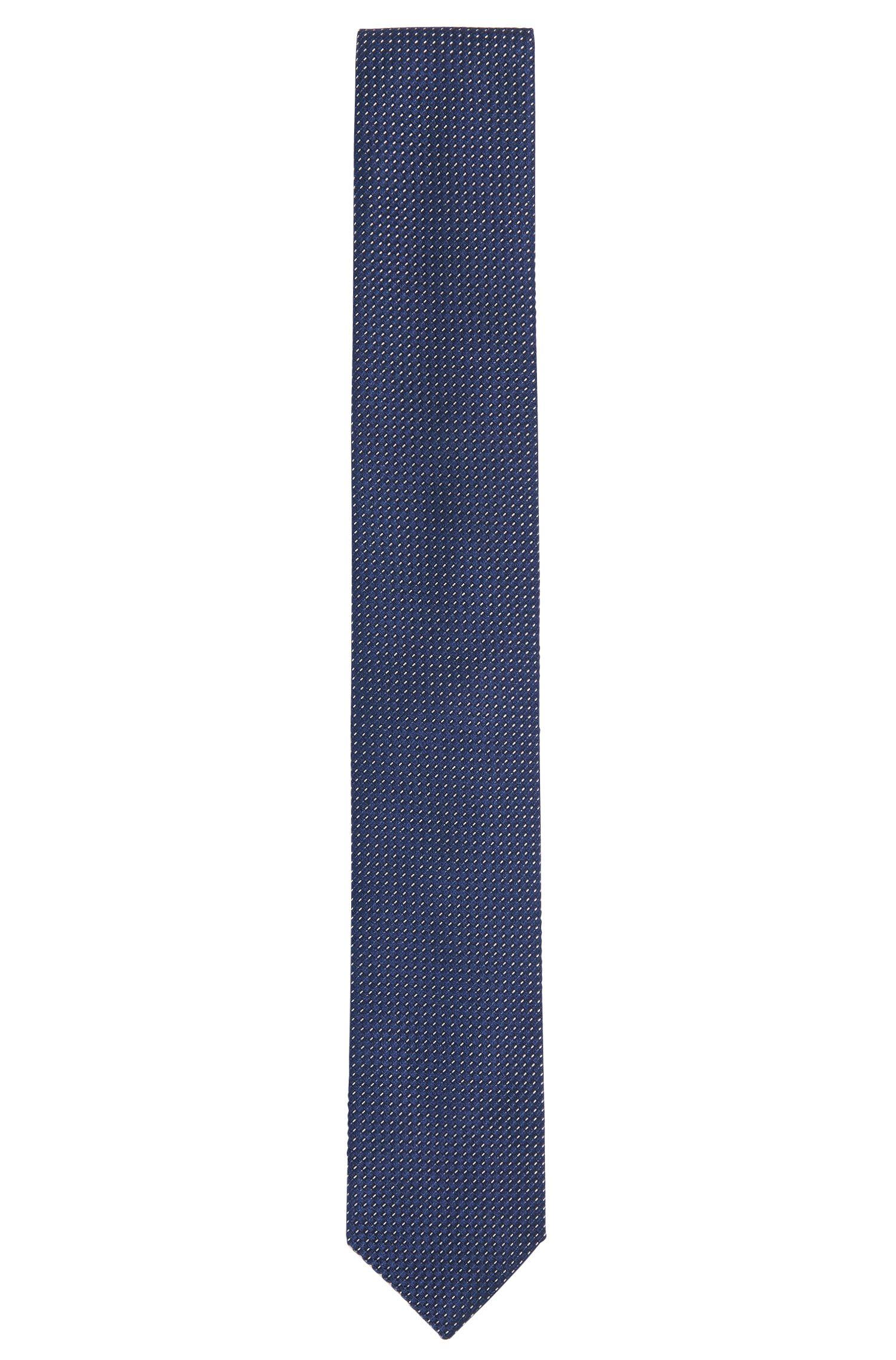 Fijngestructureerde stropdas van een zijdemix met katoen: 'Tie 6 cm'