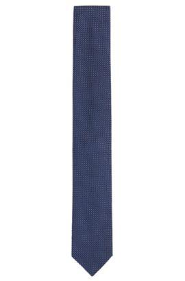 Fijngestructureerde stropdas van een zijdemix met katoen: 'Tie 6 cm', Donkerblauw