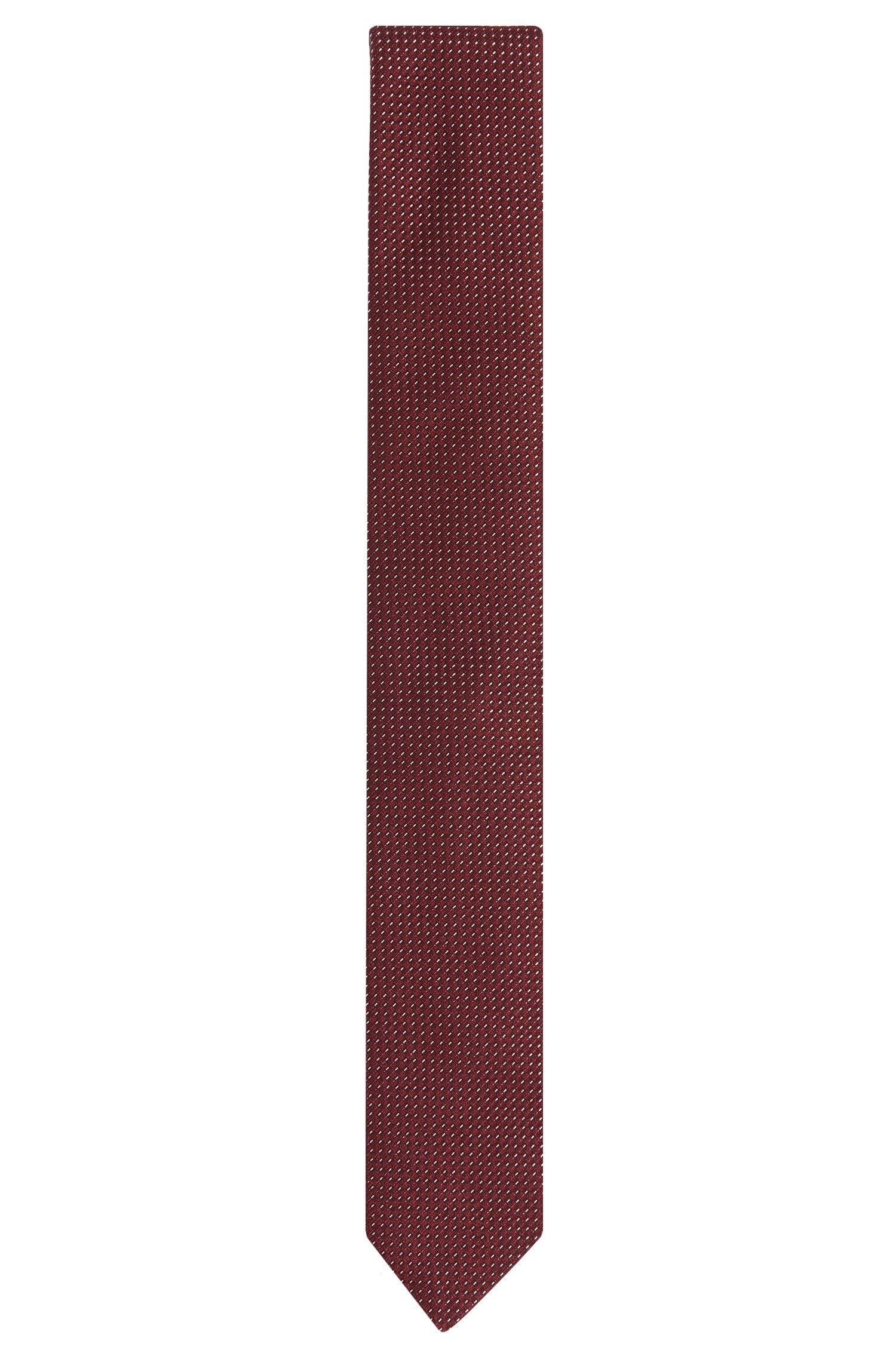 Cravatta in misto seta finemente strutturata con cotone: 'Tie 6 cm'