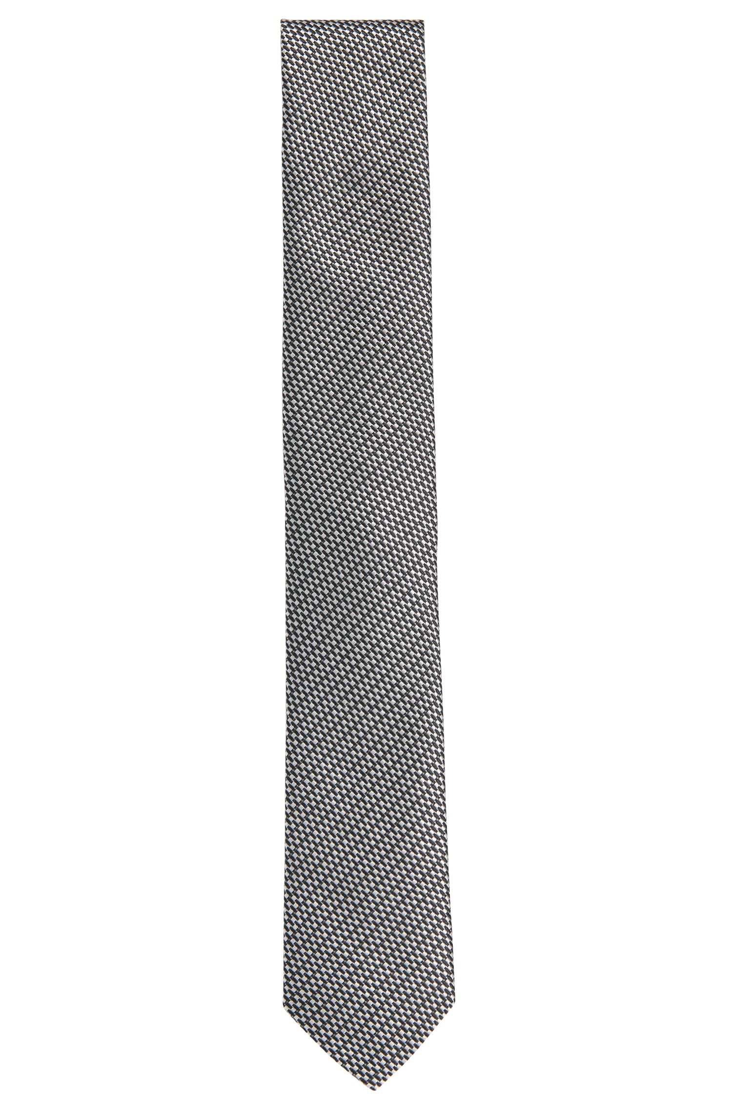 All-over patterned silk tie: 'Tie 6 cm'