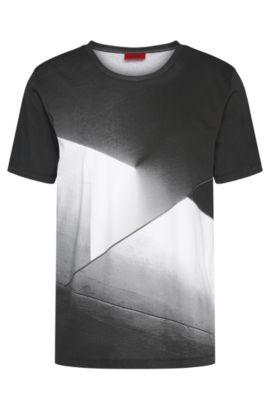 Camiseta impresa loose fit en algodón: 'Dicino', Blanco