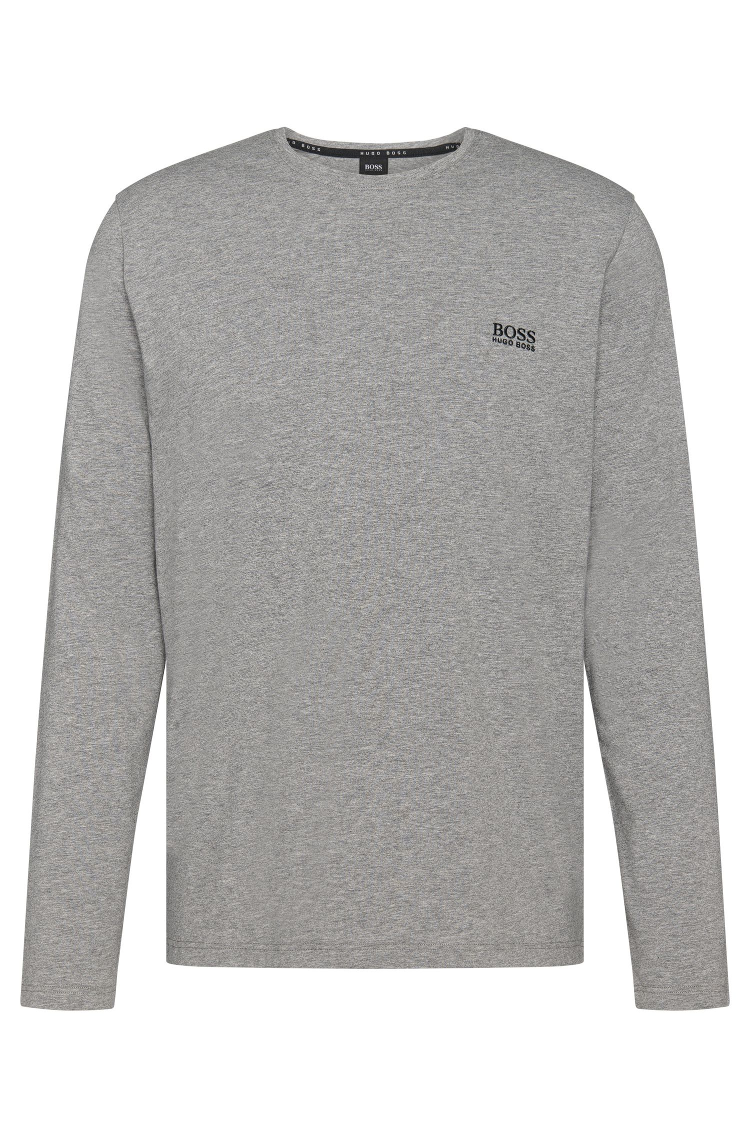 Long-sleeved T-shirt in stretch-cotton jersey