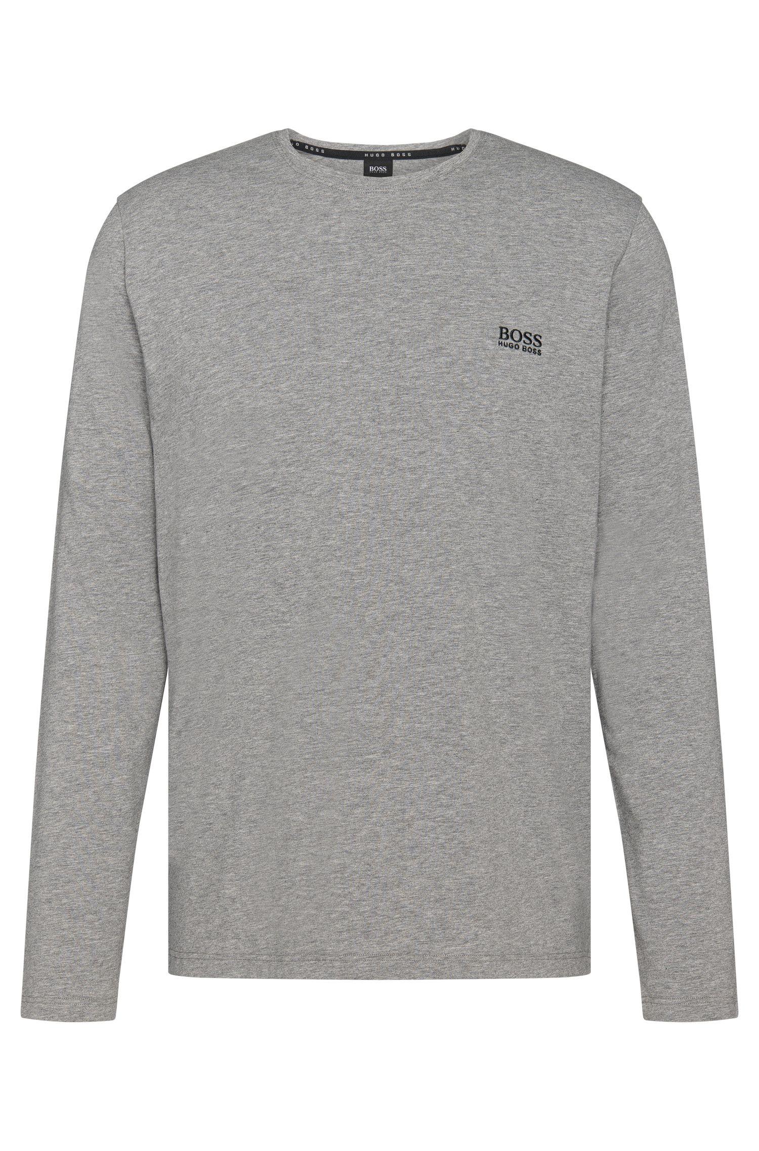 Regular-Fit Longsleeve aus elastischem Baumwoll-Jersey