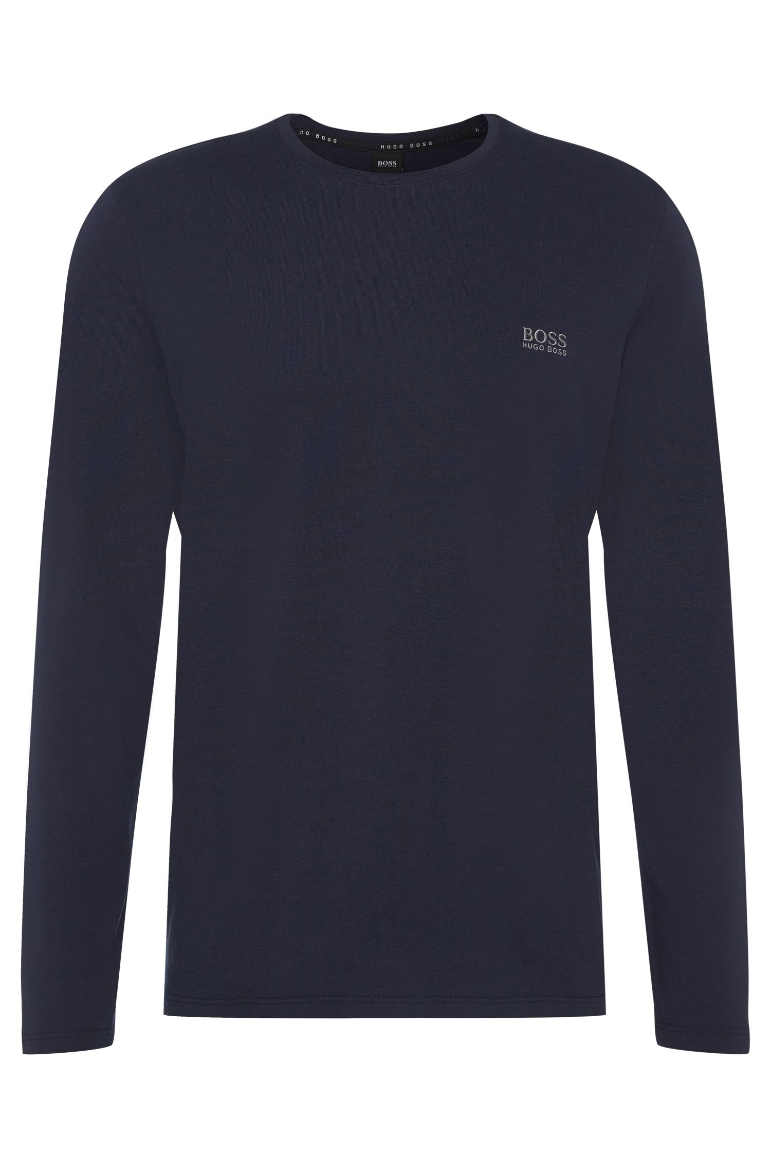 Regular-fit shirt met lange mouwen, van stretchkatoen: 'LS-Shirt RN'