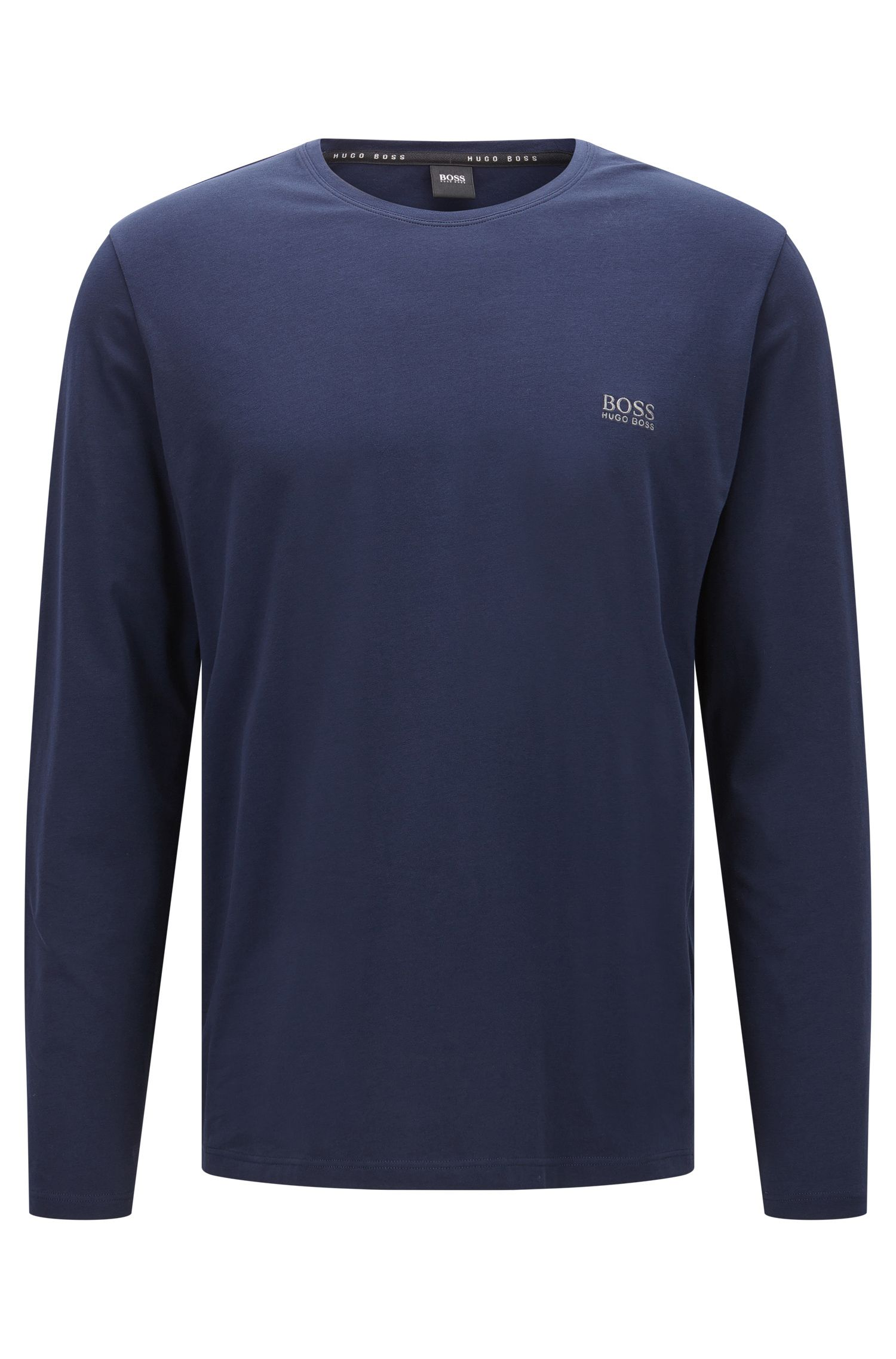 T-shirt à manches longues en jersey de coton stretch