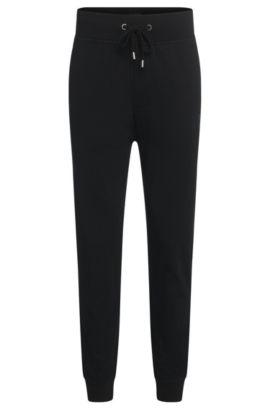 Pantalón de chándal en algodón con cordón: 'Long Pant Cuffs', Negro