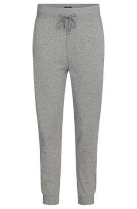 Sweathose aus Baumwolle mit Tunnelzug: 'Long Pant Cuffs', Grau