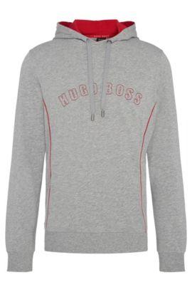 Regular-Fit Kapuzen-Sweatshirt aus Baumwolle: 'Hooded Sweatshirt', Grau