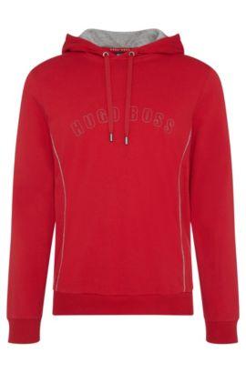 Regular-fit hooded sweatshirt in cotton: 'Hooded Sweatshirt', Red