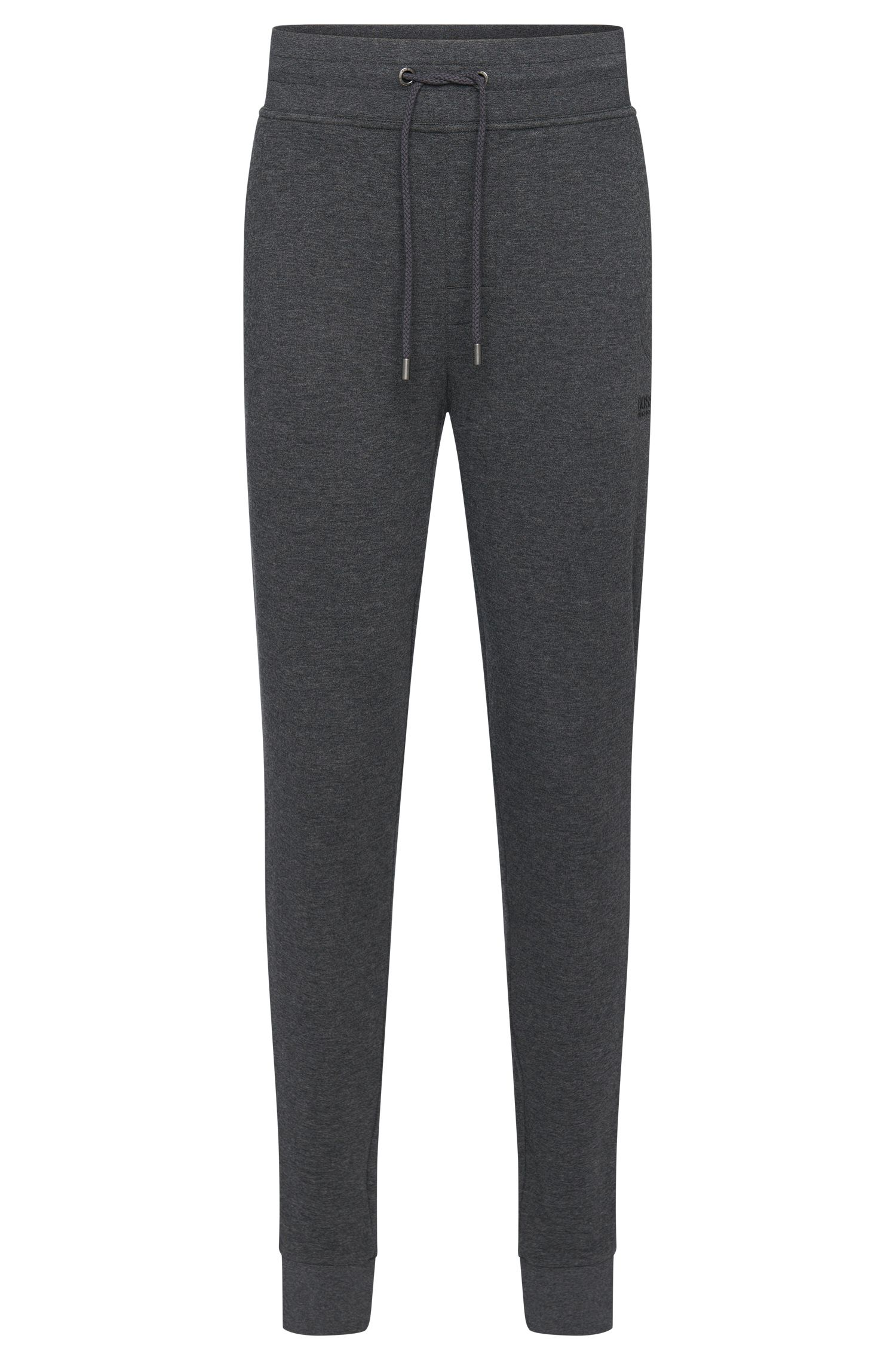 Mottled tracksuit bottoms in cotton with a drawstring waistband: 'Long Pant Cuffs'