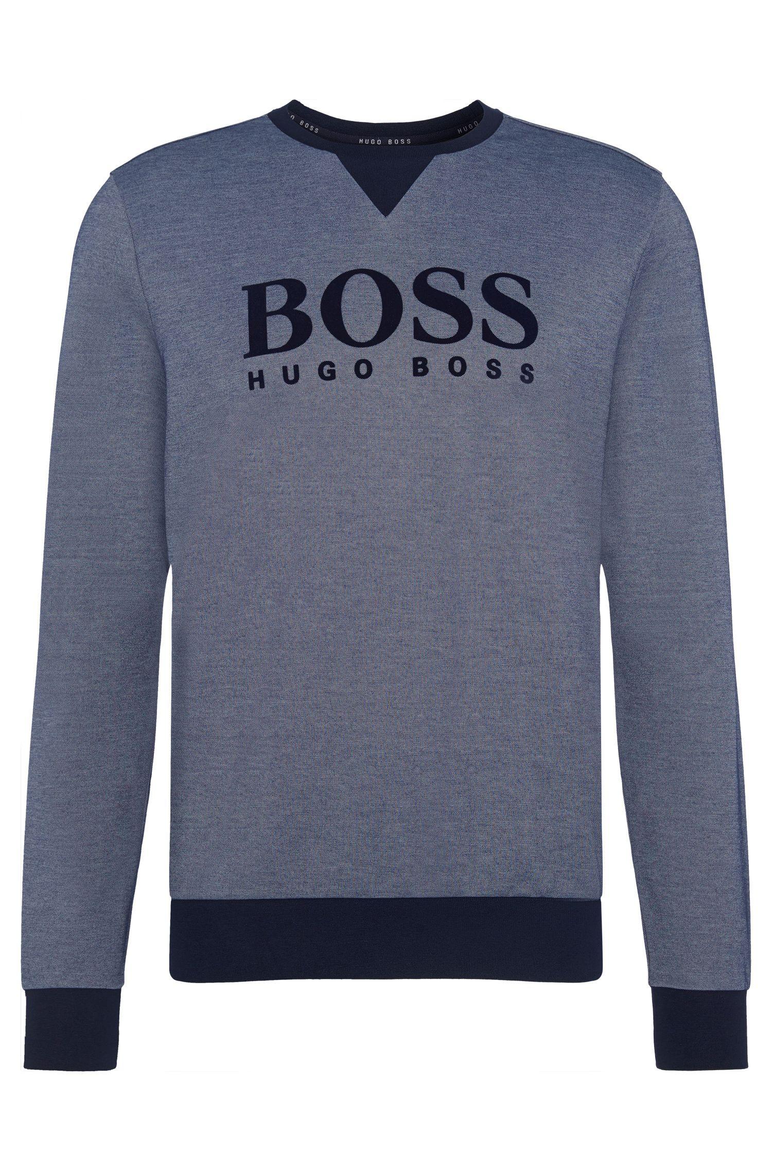 Meliertes Sweatshirt aus Baumwoll-Mix: 'Sweatshirt'