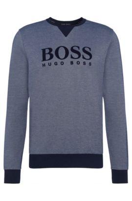 Meliertes Sweatshirt aus Baumwoll-Mix: 'Sweatshirt', Hellblau