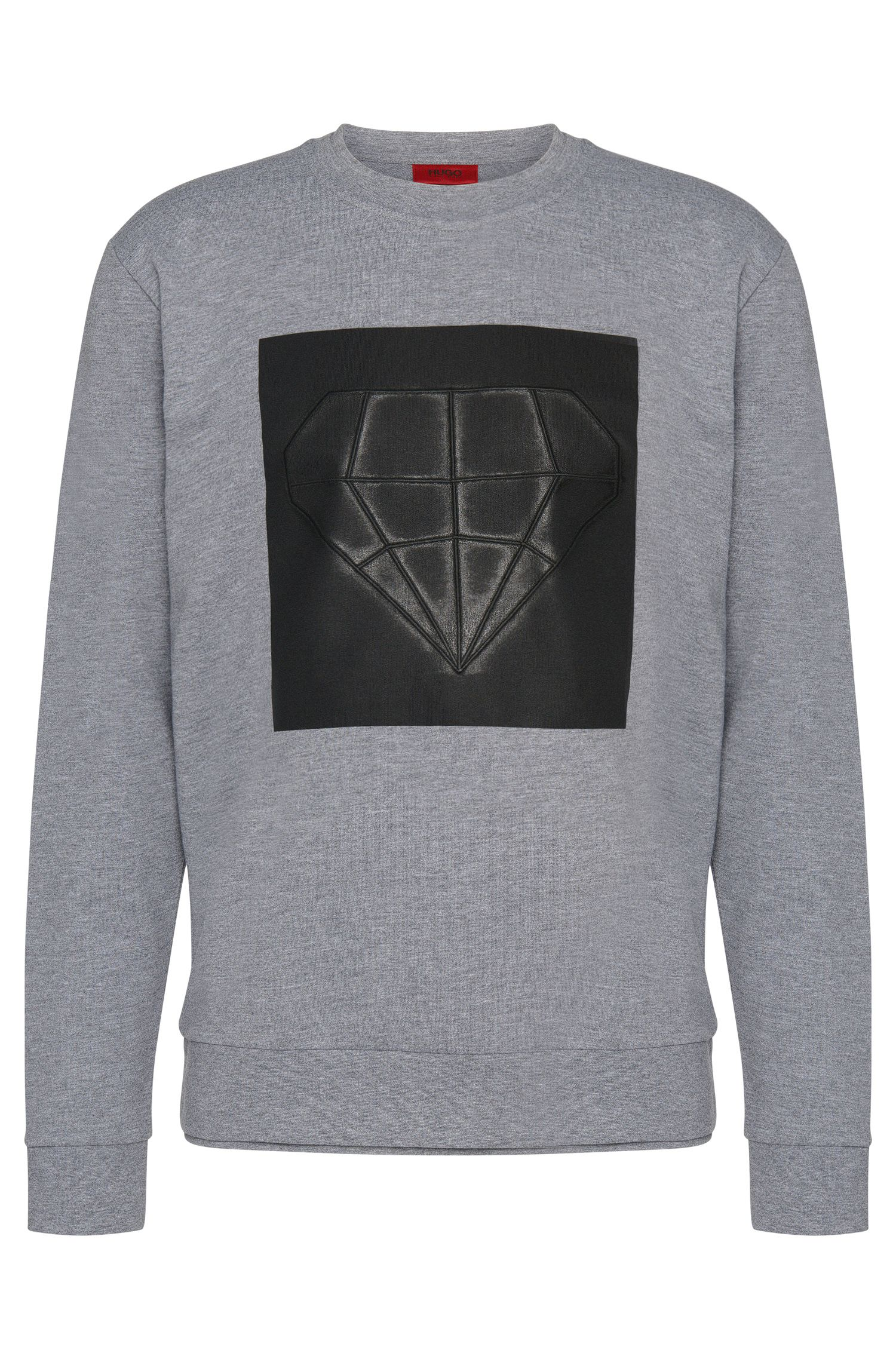 Loose-fit sweatshirt in cotton with printed front motif: 'Dardust'