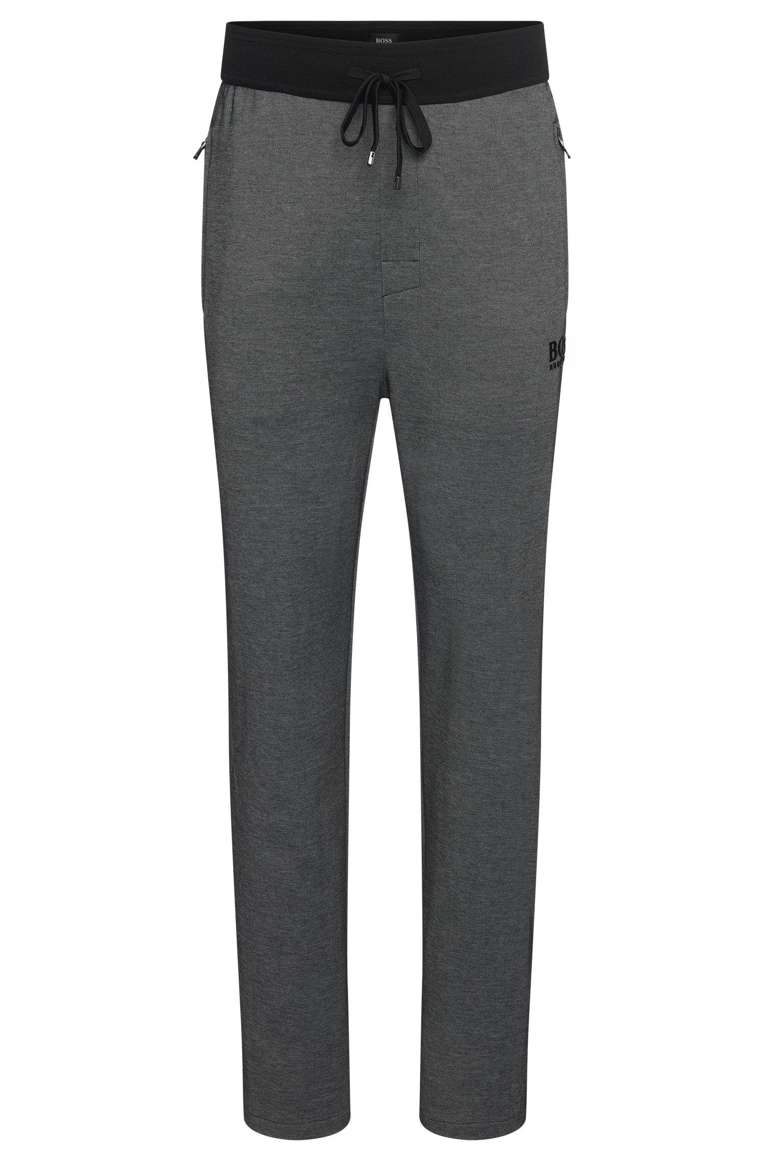 Pantalon molletonné en coton mélangé avec cordon de serrage: «Long Pant»