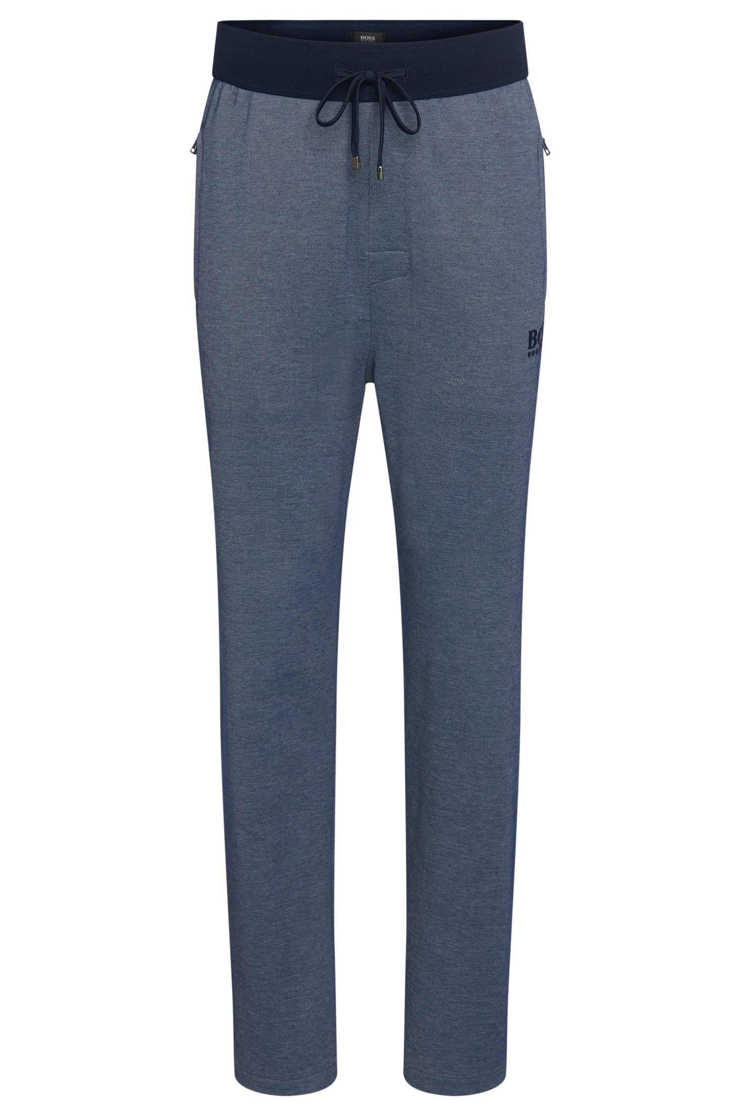 Tracksuit bottoms in cotton blend with a drawstring: 'Long Pant'