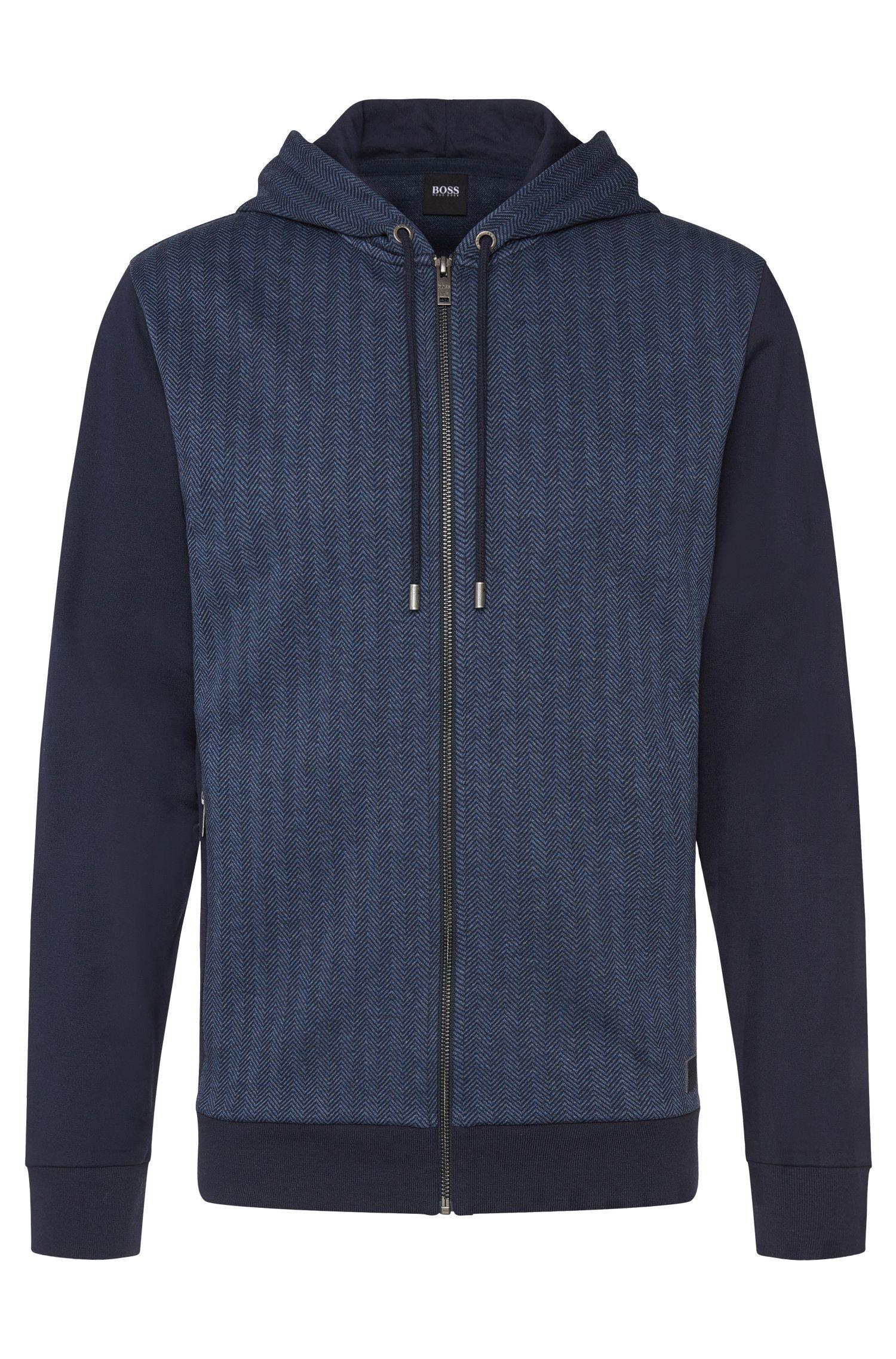 Chaqueta sudadera con capucha estampada en algodón: 'Jacket Hooded'